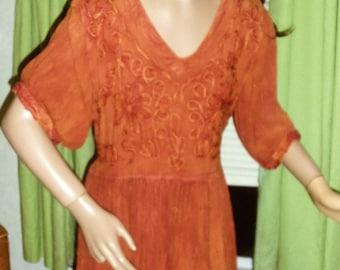 90s Indie Bobo Crepe Dress MEDIUM
