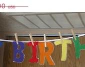 LIQUIDAITON SALE Fabric Letters: Happy Birthday