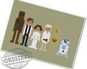 The *Original* Pixel People - Star Wars - A New Hope - PDF Cross-stitch Pattern - INSTANT DOWNLOAD