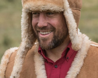 Men's Sheepskin Bomber Hat