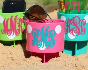 Personalized Beach Spiker - Beach Drink Holder - Personalized Cup Holder - Bridesmaid Gift