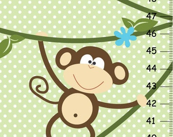 On SALE this week Boys Monkey canvas Growth Chart