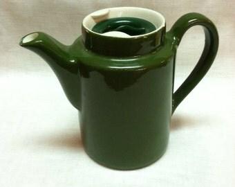 Vintage Ceramic Green Hall Little Green Restaurantware Teapot Individual
