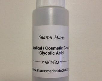 30%Glycolic Acid 4 oz. Medical grade/ ANTI: Wrinkle, Acne, Scars, Saggy Skin, Age Spots, Uneven skin tone