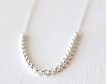 Basic Sterling Layering Chain Necklace - everyday modern jewelry