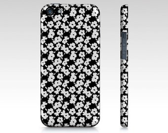 PHONECASE iPhone 5/5s Case Protective Phone Case Black and White - Flowers