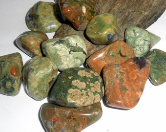 Polished Rainforest Rhyolite Jasper Gemstone Tumble Stone Specimen Reiki Crystal earthegy #929