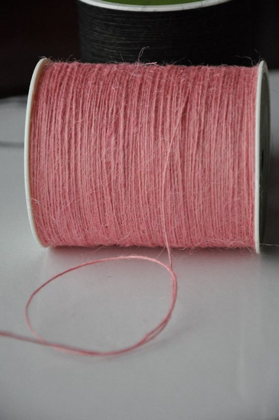 Pink Burlap String 20 yards