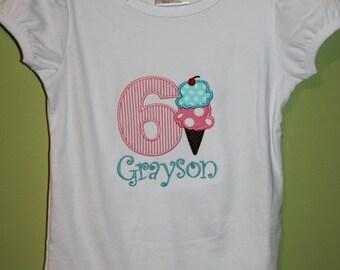 Ice Cream Birthday Shirt