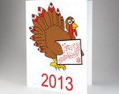 Happy Thanksgivukkah Card, Thanksgiving + Hanukkah Card