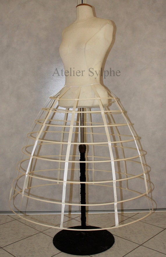 how to make a cage hoop skirt