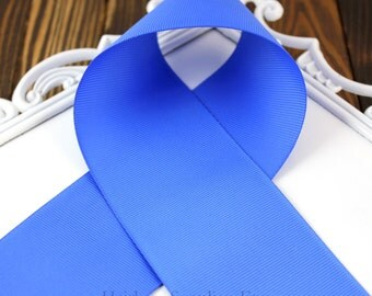 Electric Blue 3 inch Solid Grosgrain Ribbon, Royal Blue, Bright Blue, Solid, Wide Ribbon, Cheer Ribbon for Hair Bows, Hairbow Supplies, Etc.