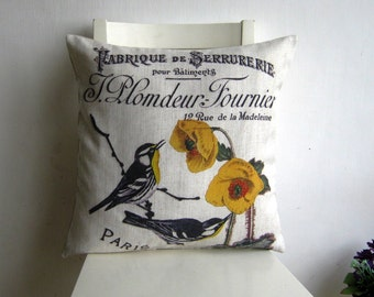 Vintage French style 18 x 18 Cushion cover