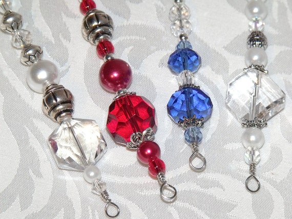 Red White And Blue Christmas Ornaments Hand Made In America