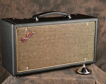 Handwired Tube Reverb Unit 6G15 Custom Black & Gold w/ Genuine Fender Footswitch