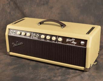 "Handwired '64 Blonde Bassman 6G6-B Custom Clone Guitar Tube Amp Head - The ""Blondie"""