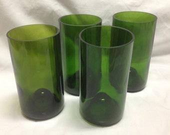 Set of 4 Wine bottle Tumblers
