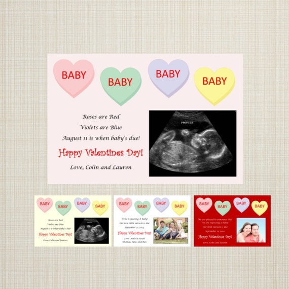 SALE Valentines Day Pregnancy Announcement Candy – Baby Announcement Candy