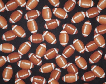 Allover Football Print Pure Cotton Fabric--One Yard