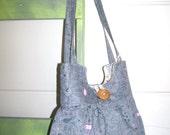 Paisley Floral Grey Pleated Purse Handbag - READY to Ship