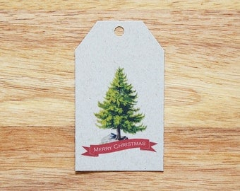 Christmas Tree Holiday Gift Tags - Set of 6