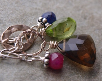 Baby Ruby, Sapphire, Emerald Rondell - Choose your Charm- Charm Pendant #47
