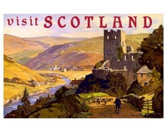 SCOTLAND 3S- Handmade Leather Photo Album - Travel Art