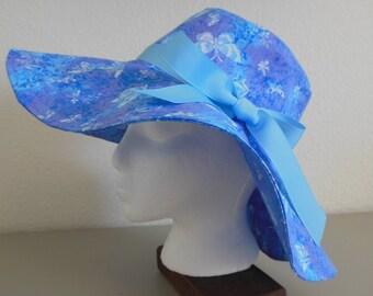 Blue with Butterflies Sun Hat