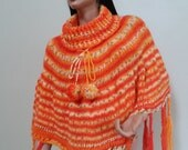 Knitted , colorfull poncho