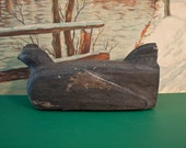 Vintage Hen Art Door Stop / Hand Made / Folk Art