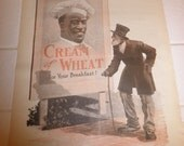 Youths Companion Feb 27 1919  CREAM OF WHEAT Rastus and old man w cane