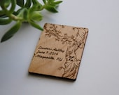 Rustic Tree Alder Wood Save The Date Magnet - Laser Cut Rustic Design - Set of 100