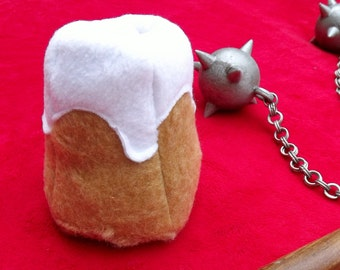 Skyrim Inspired Sweetroll Plush Cosplay Prop Pretend Food Elder Scrolls Dragonborn Dovahkiin Video Game