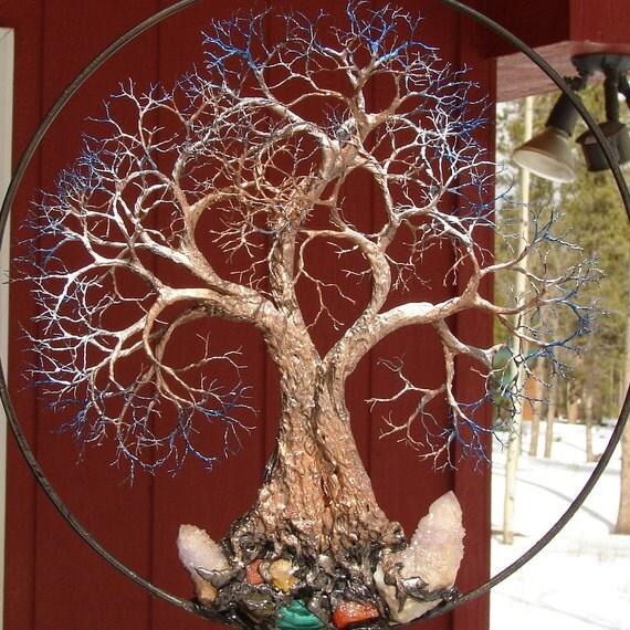 Wire Tree Of Life Grove Tree Spirits Sculpture Amethyst Spirit