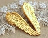 Wing Earrings,Gold Long Earrings,Gift for her,Christmas Gift,Angel Wing Earrings,Gold Angle Ring,Gold Earrings, Gold Angle Wing Earrings