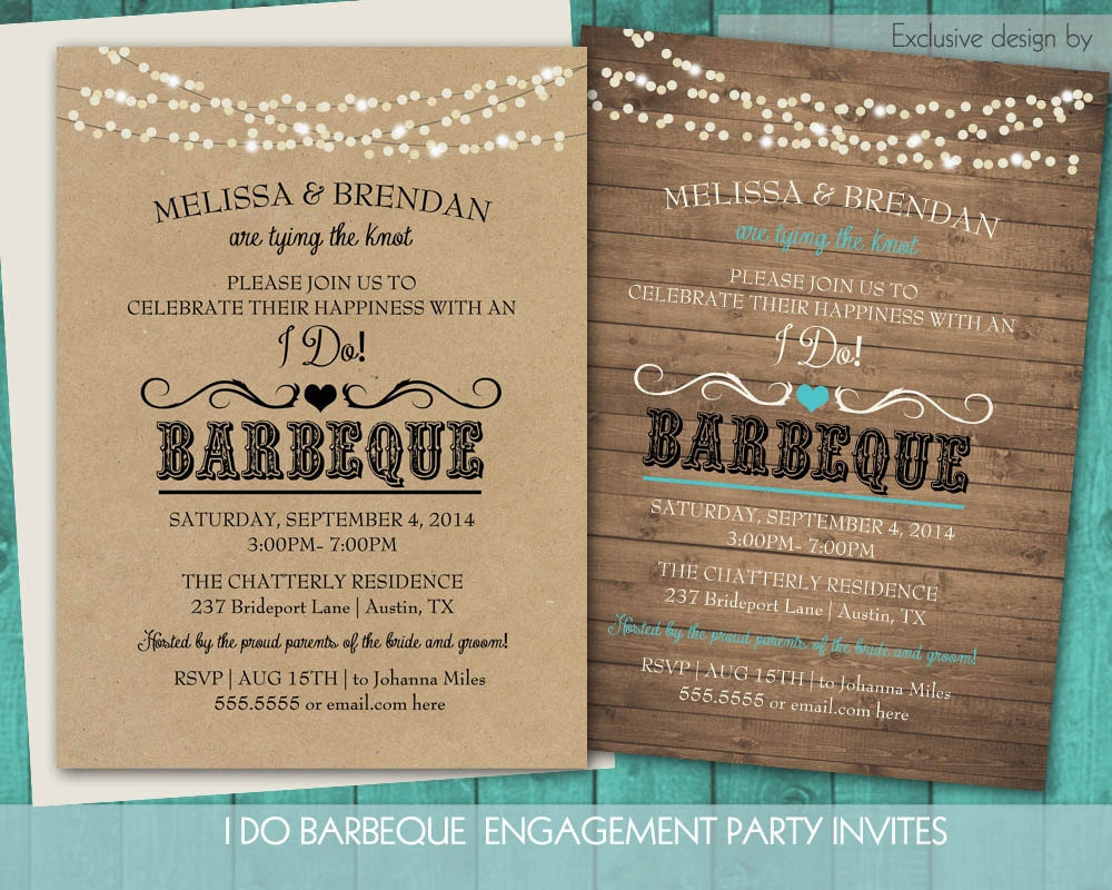 Wedding Reception Invite Wording: Printable I Do BBQ Wedding Reception Invitation Wedding