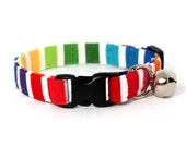 Rainbow Stripe Breakaway Cat Collar