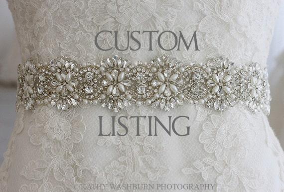 CUSTOM for Candace - Art Deco sash
