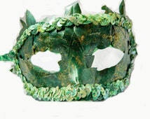 Sexy Poison Ivy  Mask Fairy Nymph Mardi Gras Accessory Woman/Man unisex adult