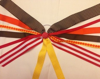CLEARANCE!!! One of a Kind Ponytail Streamer in Red, Orange, Yellow, & Brown