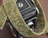 Moss Green Floral - Camera Strap Accessories for dSLR - Sling - Christmas Gift for Girlfriend Cyber Monday