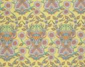 SALE! Deer Fabric by the Yard Tula Pink Moon Shine Fabric Dear Me in Dandelion One Yard