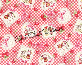 Little Red Riding Hood Fabric, Fairytale, Character Fabric, Lecien Japan, Nursery Fabric