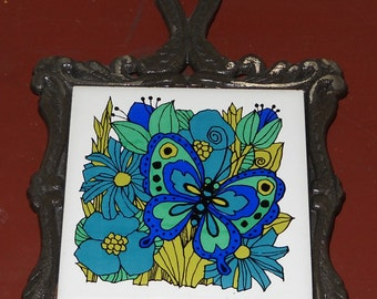 Vintage Trivet - Butterfly - Made in Japan