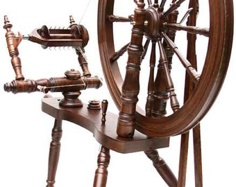 Kromski Symphony Spinning Wheel Mahogany Finish Free Shipping With Extras