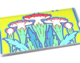 Checkbook Cover Amy Butler Soul Blossoms Bliss Fuchsia Tree Chartreuse