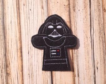 Darth Vader Inspired Finger Puppet