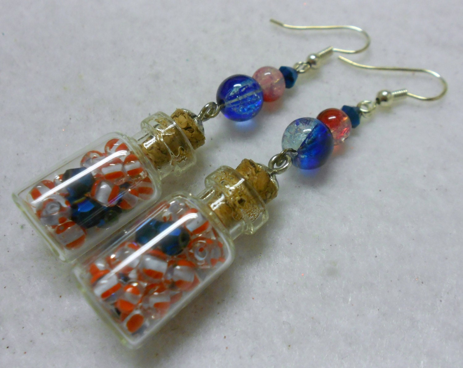 4th of july earrings patriotic earrings 4th of july earrings white and blue 8443