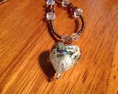 Puffy Mullti Colored Heart Necklace