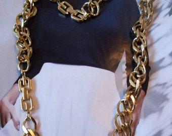 Givenchy Gold Interchangable Necklace & Bracelet  LJO Collection Jewelry   We Ship Internationally